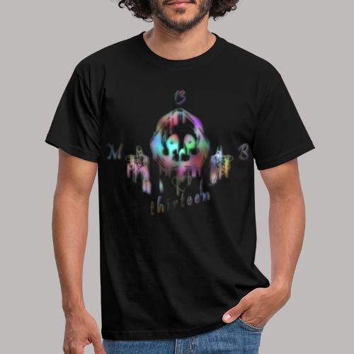 MB13 - skull - rainbow - thirteen - Men's T-Shirt