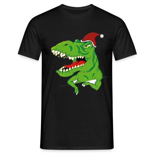 Navidad dinosaurio - Camiseta hombre