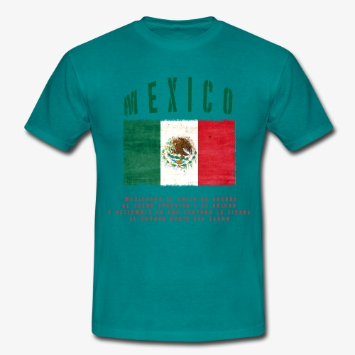 Mexican Flag Bandera Mexico - Männer T-Shirt