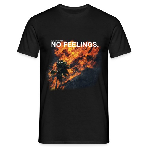 NO FEELINGS Burning Palm Tree - T-shirt Homme