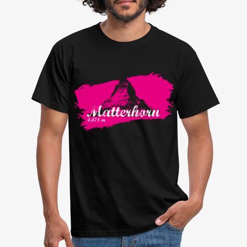 Matterhorn - Cervino en rosa - Men's T-Shirt