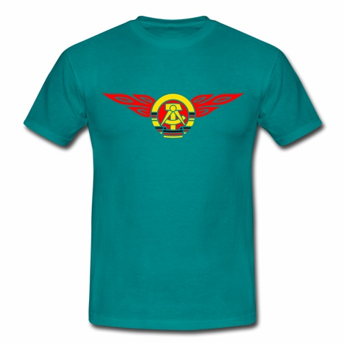GDR flames crest 3c - Men's T-Shirt