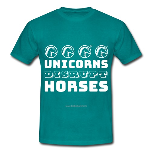 Unicorns Disrupt Horses - T-shirt Homme