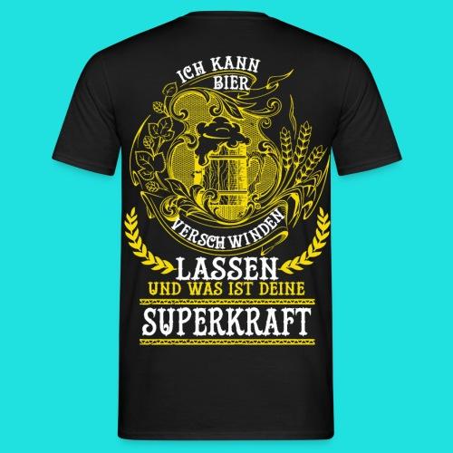 Bier Superkraft - Männer T-Shirt