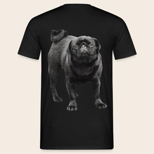 schwarzer Mops - Männer T-Shirt