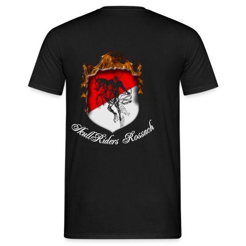 skullridersrossachweiss - Männer T-Shirt