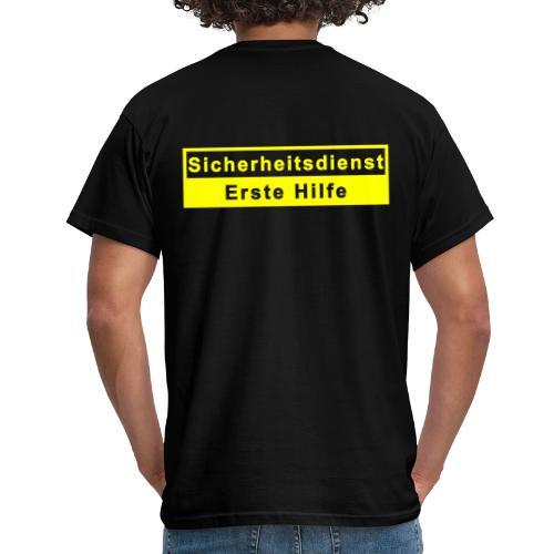 Sicherheitsdienst & Erste Hilfe, gelb - Männer T-Shirt