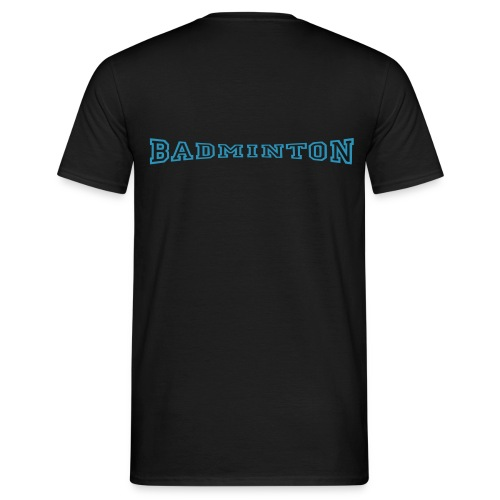 schrift badminton - Männer T-Shirt