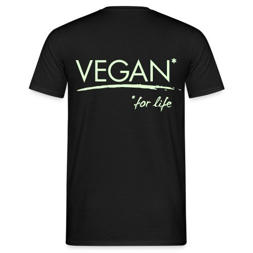 vegan for life 1c - Männer T-Shirt