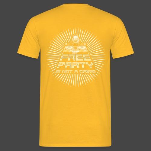 free party n'est pas un crime tekno 23 - T-shirt Homme