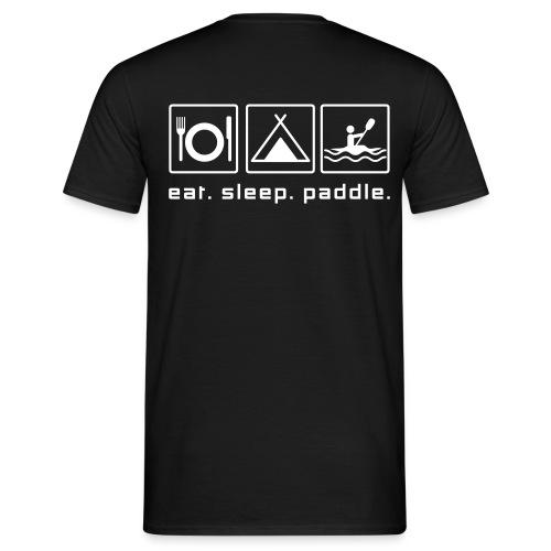 eat sleep paddle - Männer T-Shirt