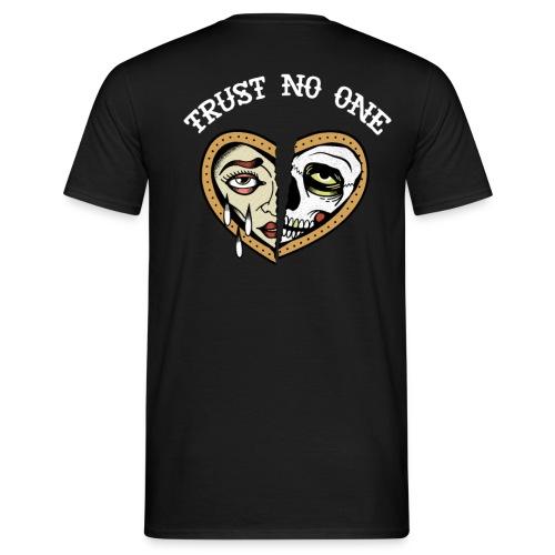 Trust no one broken - Männer T-Shirt