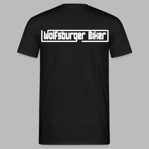 Wolfsburger Biker Schriftzug - Männer T-Shirt