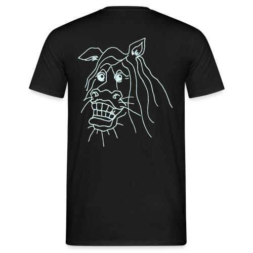 naurava hevonen - Miesten t-paita