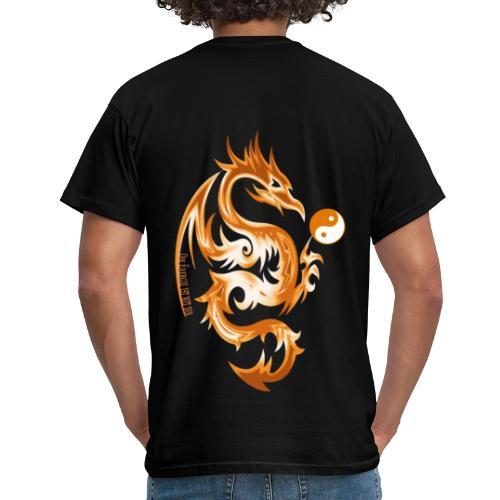 Der Drache spielt mit der Energie des Lebens. - Männer T-Shirt