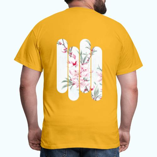 Vintage Japan watercolor flowers - Men's T-Shirt