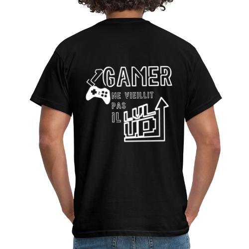 Gameur Manette Blanc - T-shirt Homme