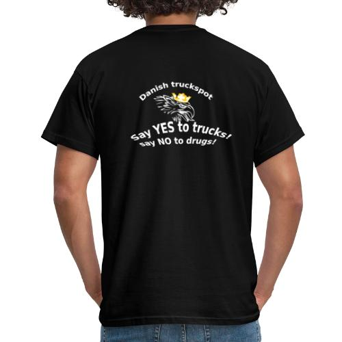 Say YES to trucks! Say NO to drugs (sorte trøjer) - Herre-T-shirt