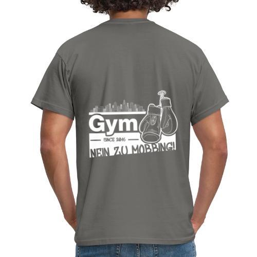 Nein zu Mobbing Men Druckfarbe weiß - Männer T-Shirt