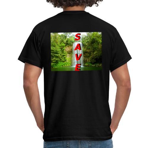 Waterfale Save - Männer T-Shirt