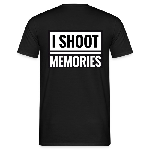 I SHOOT MEMORIES, BLACK EDITION - Herre-T-shirt