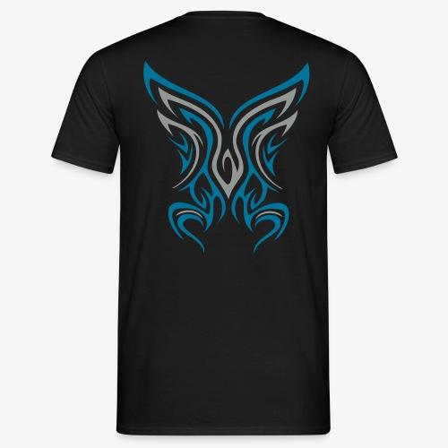 Backside Tribal zweifarbig - Männer T-Shirt
