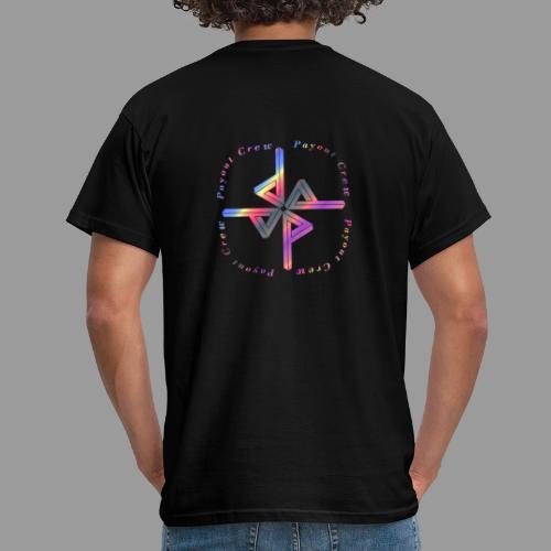 Quadrat Regenbogen - Männer T-Shirt
