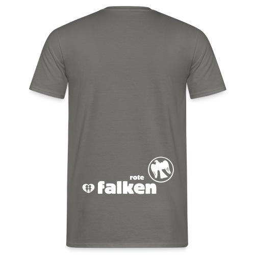 RF Logo Schriftzug schwarz - Männer T-Shirt