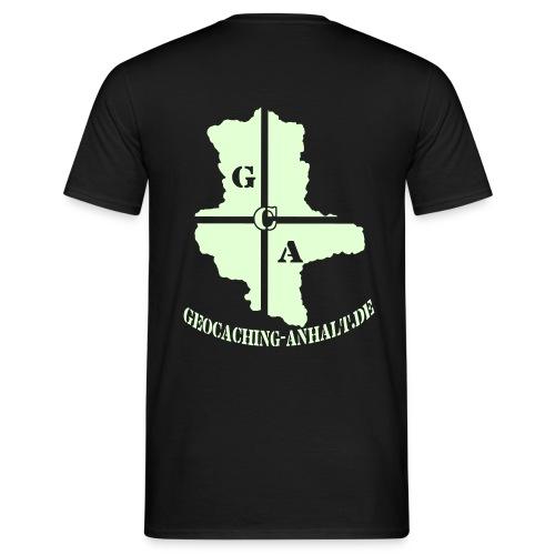 Logo schwarz mit URL - Männer T-Shirt