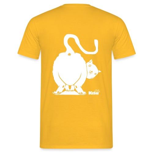 pyllykissa valkoinen - Miesten t-paita
