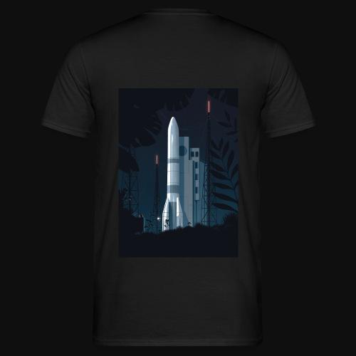 Ariane 6 - At night By Tom Haugomat - Men's T-Shirt