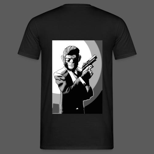 Affe Mit Waffe - Männer T-Shirt
