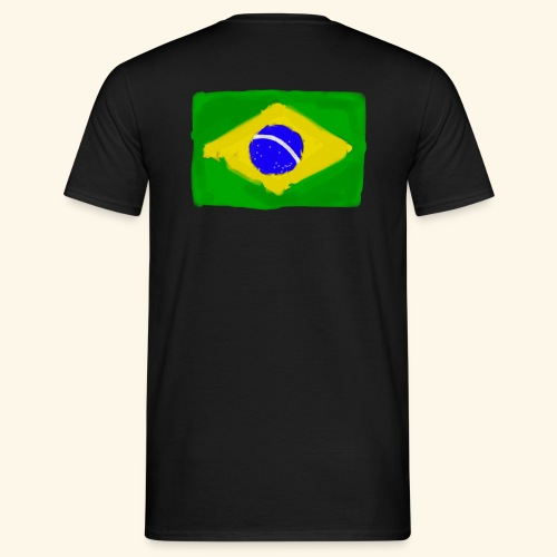 Brazilian flag InWatercolours - T-shirt herr