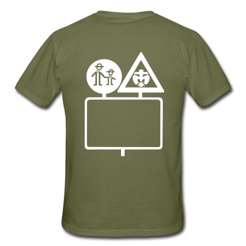 285 cm pfadfinderfreundevektor - Männer T-Shirt