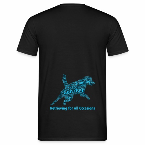 Retrieving for All Occasions wordcloud blått - T-shirt herr