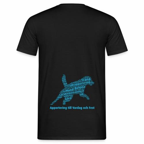 Apportering till vardag och fest wordcloud blått - T-shirt herr