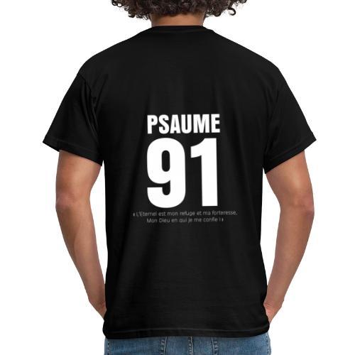 Psaume 91 eternel mon refuge en blanc - T-shirt Homme