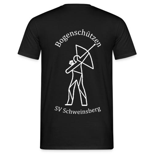 logo bogenschuetzen schweinsberg weiss - Männer T-Shirt