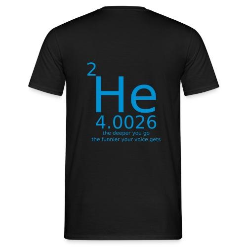 Helium the deeper you go - T-skjorte for menn