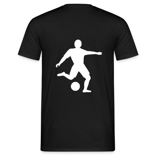 Fussballer schwarz - Männer T-Shirt
