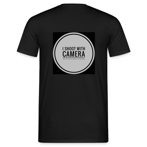 I SHOOT WITH CAMERA - Herre-T-shirt