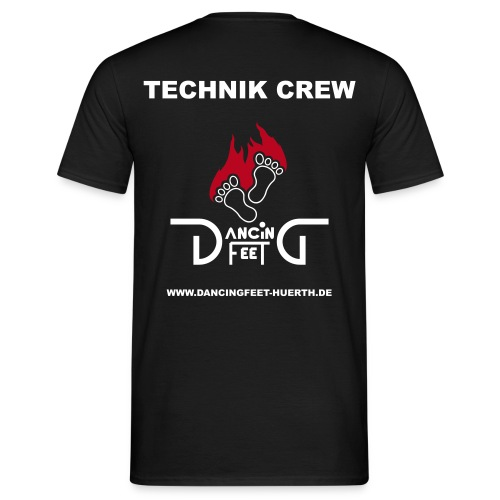 dancing feet logo zweifarbig technikcrew - Männer T-Shirt