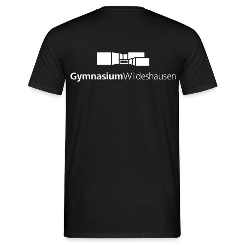 Gymnasium Logo Schwarz Weiss - Männer T-Shirt