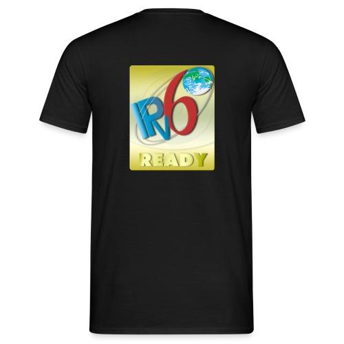 ipv6 ready logo gold - Men's T-Shirt