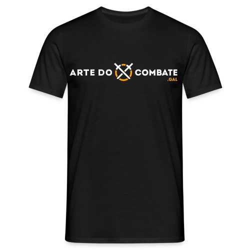 Logótipo «Arte do Combate» horizontal sobre preto - Camiseta hombre