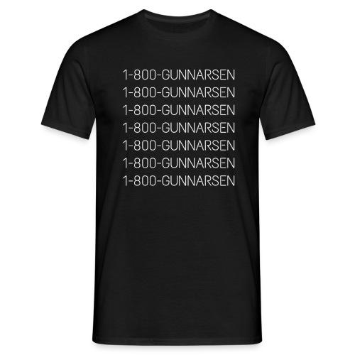 1-800-GUNNARSEN - Herre-T-shirt