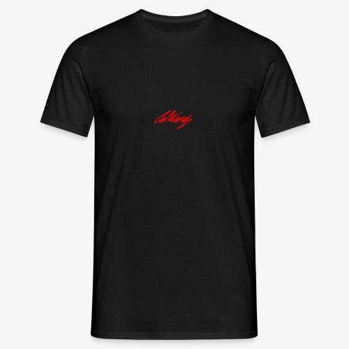 Cal Wardy Signature - Black T-Shirt - Red Font - Men's T-Shirt