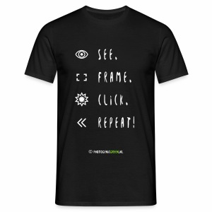 See. Frame. Click. Repeat! - Men's T-Shirt