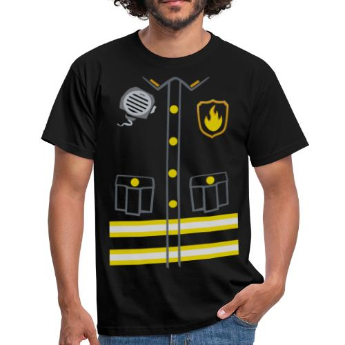 Fireman Costume - Dark edition - Men's T-Shirt