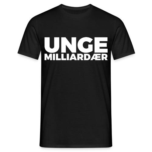 unge-mill-logo-hvit - T-skjorte for menn